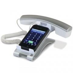 Handset com apoio de mesa para iPhone