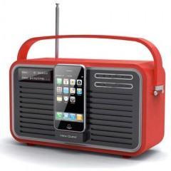 Rádio Retro com Dock para iPhone