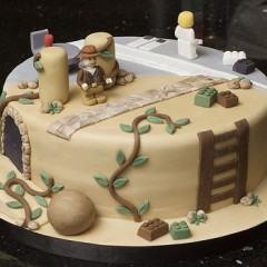 Bolo de Lego Indiana Jones e Star Wars!