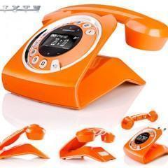 Telefone de Disco com Estilo Antigo e Tecnologia Moderna