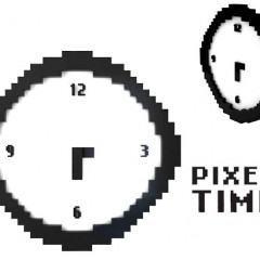 Relógio de Parede Pixelado