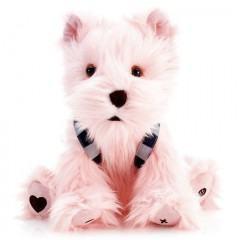 Caixa de Som para iPod em Forma de Cãozinho Yorkshire Rosa
