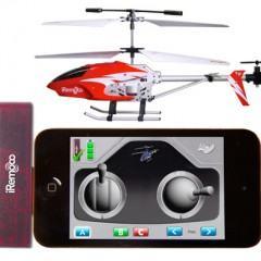 Mini-Helicóptero Controlado pelo iPhone, iPod ou iPad