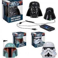 Caixas de Som Capacetes de Star Wars: Darth Vader, Stormtrooper e Boba Fett