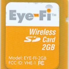 Eye-Fi, cartão SD de 2GB e Wireless