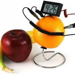 Um Relógio Movido A Fruta