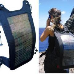 Carregador Solar para Mochilas
