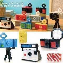 Câmera Digital Nanoblock Toy com Blocos de Montar Estilo LEGO