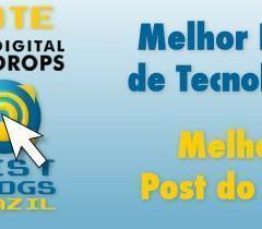 """Vote no DD para """"Melhor Blog de Tecnologia"""" do Brasil"""