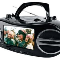 """Um Boombox com DVD Player e Tela de 7"""""""