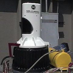 Turbina movida a lixo