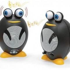 Caixas de Som com Formato de Pingüins