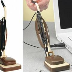 Um Mini Aspirador de Pó USB