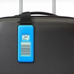 Etiqueta de bagagem com NFC e tela e-paper