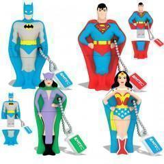 Flash Drives DC Super-Heróis com Design Anos 50
