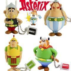 Flash Drives Asterix, Obelix, Abracurcix e Centurião Romano