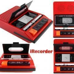 iRecorder iPhone Dock com Forma de Gravador de Fita Cassete Retro