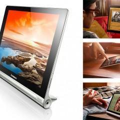 Yoga Tablet tem design que foge do convencional e bateria com autonomia de 18 horas