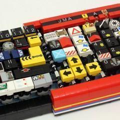 Um teclado feito com peças de LEGO!