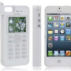 Case bizarro para iPhone tem bateria externa, 2 chips SIM e gravador de chamadas