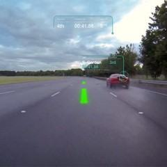 Virtual Windscreen da Jaguar Land Rover transforma estradas em games de corrida