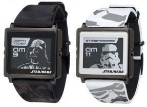 Relógio Star Wars da Epson com tela e-ink: Darth Vader, R2-D2, C-3PO e Stormtrooper