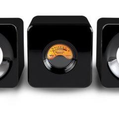 Cubed, um mini sistema de som Bluetooth com VU meter