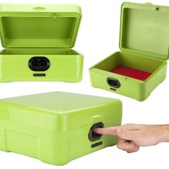 Cofre Biométrico Portátil com Leitor de Digitais