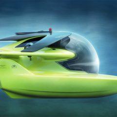 Submarino Triton Aston Martin com visão 360º parece saído de um filme de Sci-Fi