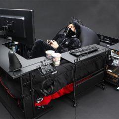 Uma cama pra gamers (muito) preguiçosos