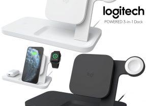 Carregador Sem Fio Logitech 3-em-1 para iPhone, AirPods e Apple Watch