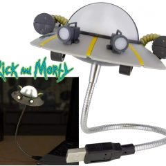 Luminária USB Disco Voador Space Cruiser da Série Rick and Morty