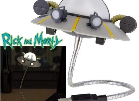 Luminária USB Disco Voador Space Cruiser da Série Rick and Morty