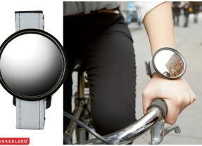 """Espelho de Pulso """"Bike Watcher Mirror"""" para Andar de Bicicleta sem Pontos Cegos"""