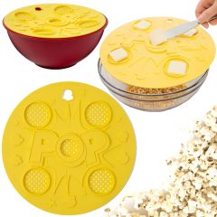 """""""Think Outside the Bag Popcorn Lid"""" – Pipoca Amanteigada no Microondas sem Químicos e Conservantes"""