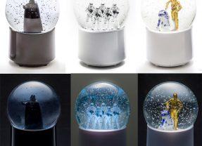 Globos de Neve Star Wars com Caixas de Som e Conexão Bluetooth 4.0