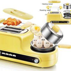 Torradeira Multifuncional Faz Torradas, Ovos e Bacon Numa Única Máquina