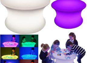 Mesa Iluminada com Luzes Sensoriais