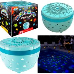 Projetor SwimWays Rainbow Reef Transforma sua Piscina num Aquário Virtual