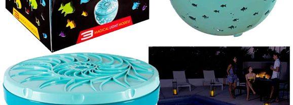 Projetor SwimWays Rainbow Reef Transforma sua Piscina num Aquário Virtual