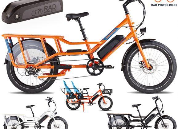Bicicleta Elétrica de Carga RadWagon 4 com Capacidade para 158Kg de Peso