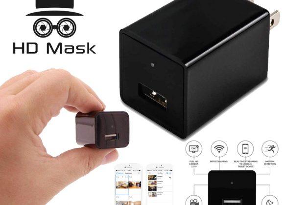 Câmera de vídeo HD Mask escondida dentro de uma carregador USB de celular