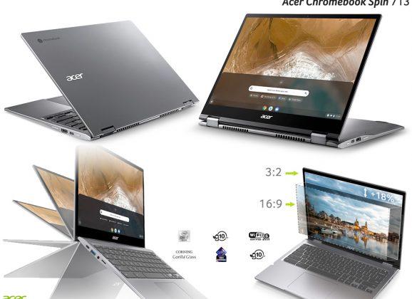 Acer Chromebook Spin 713 com Tela de 13.5 Polegadas e Certificação Intel Project Athena