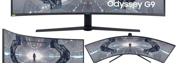 Samsung Odyssey G9 Gaming Monitor com tela QLED curva de 49 polegadas