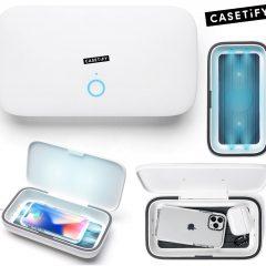 """Casetify Sanitizer com UV-C LEDs, carregamento sem fio e lucros doados para o """"GlobalGiving Coronavirus Relief Fund"""""""