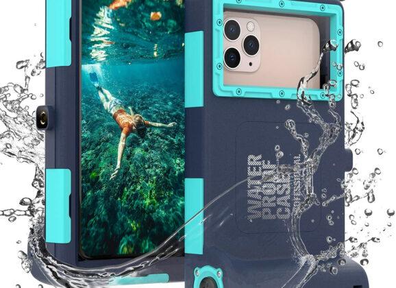 Case Shellbox Waterproof Professional para tirar fotos em águas profundas (iPhone/Galaxy)