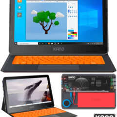 Tablet DIY Kano PC Windows 10 com Componentes que Encaixam como LEGO