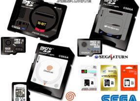 Cartões de Memória MicroSDHC em Homenagem aos Consoles de Videogames Clássicos da Sega: Mega Drive, Sega Saturn e Dreamcast