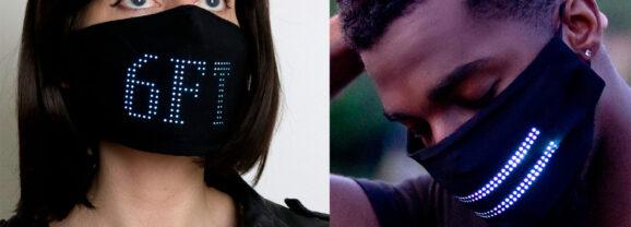 Máscara Facial LED Matrix para se Prevenir do Covid-19 com Estilo