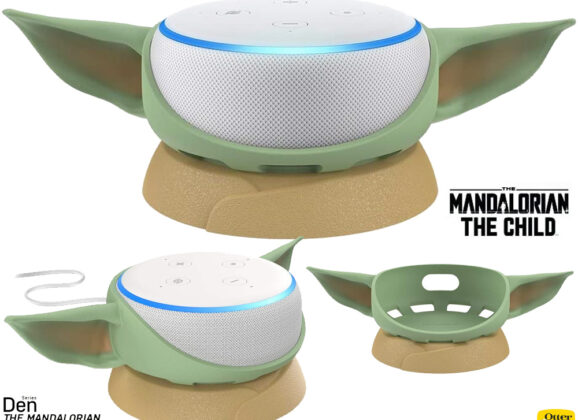 Base Baby Yoda para Amazon Echo Dot (Star Wars: The Mandalorian)